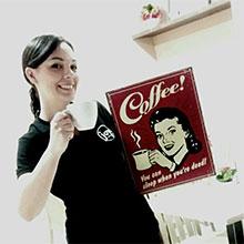 Gioia Graziosi e la sua caffetteria